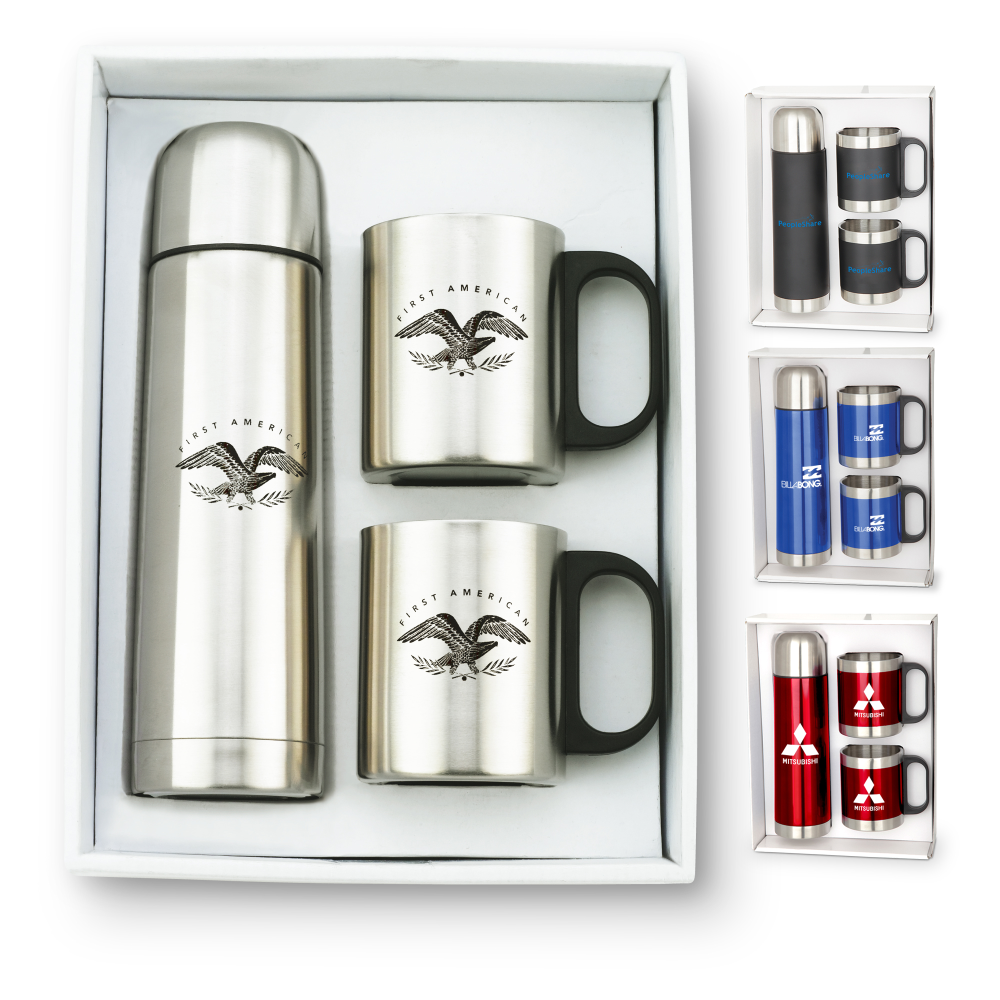 GT-53 9oz Stainless Steel Mugs & 16.5oz Thermos Giftset