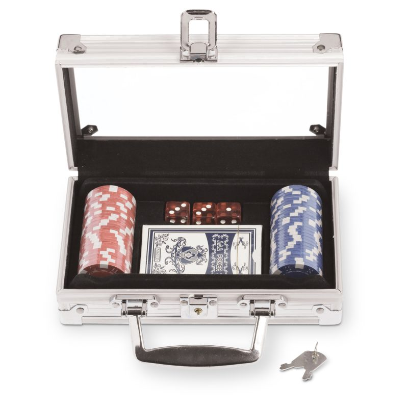 PK-050 Poker Set with 50 Chips BLANK OPEN
