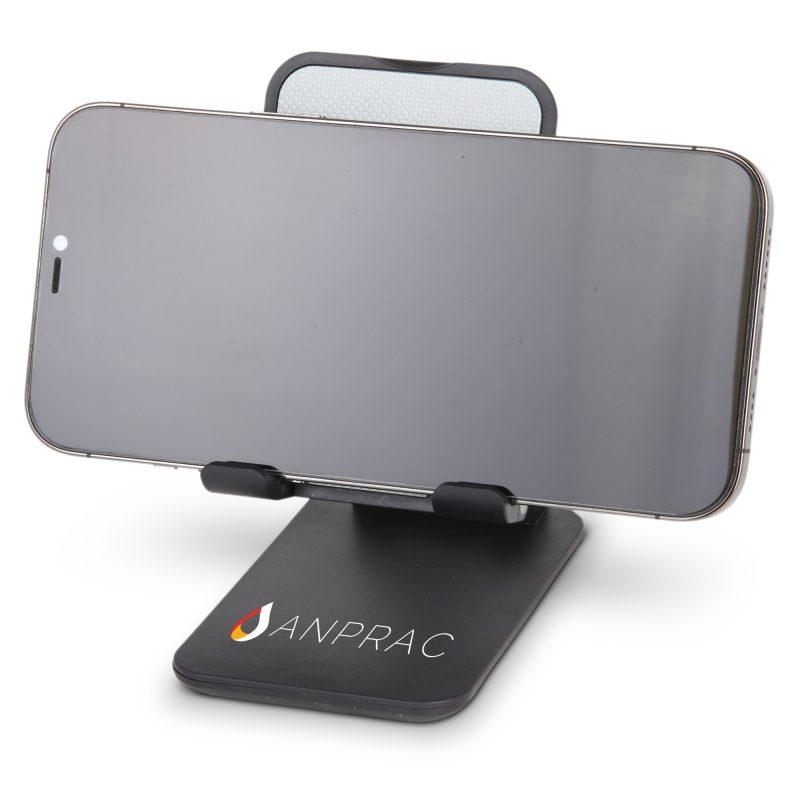HF-07 Adjustable Desktop Cellphone Stand BLACK w PHONE
