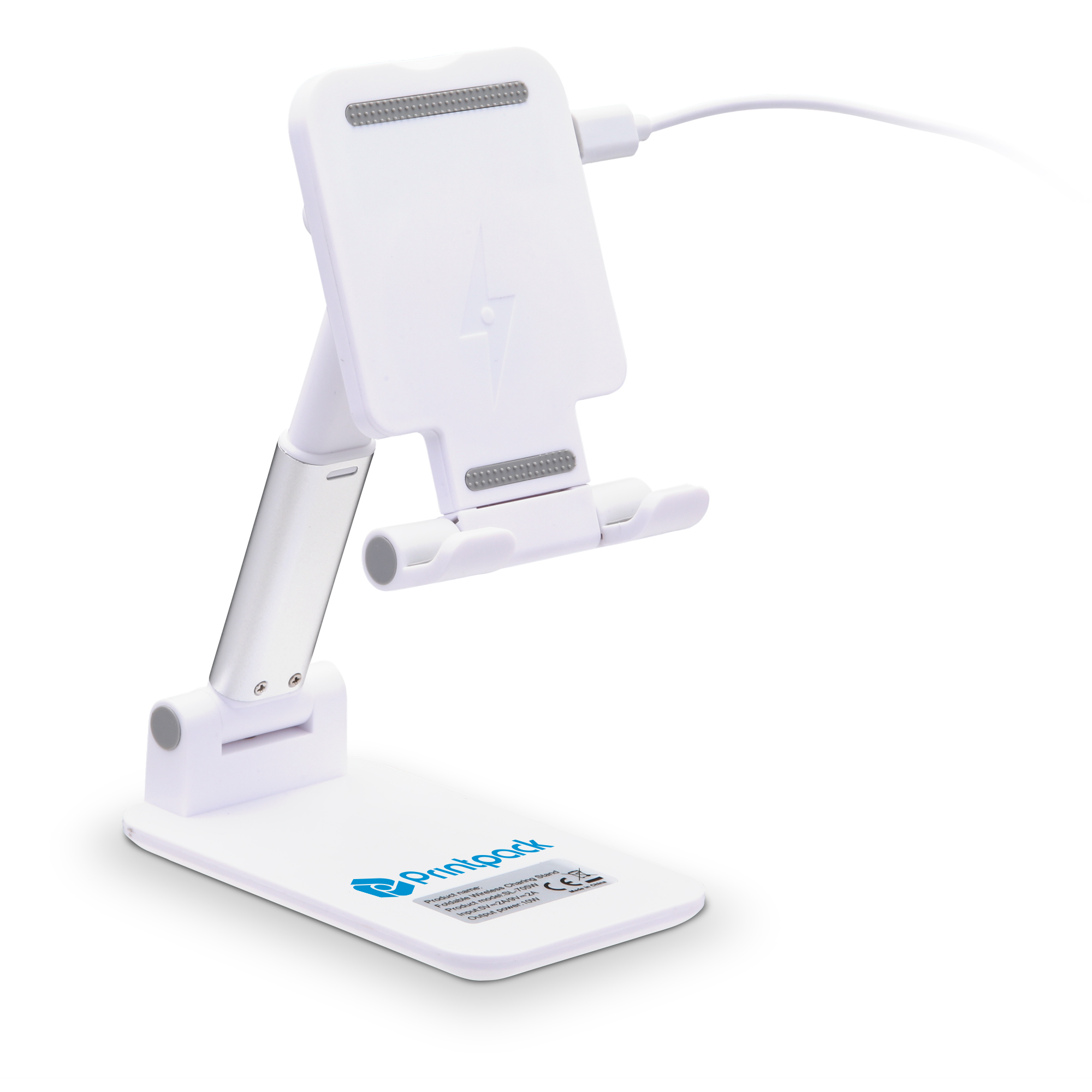 HF-08 Desktop Cell Phone Holder w/ Wireless Charger