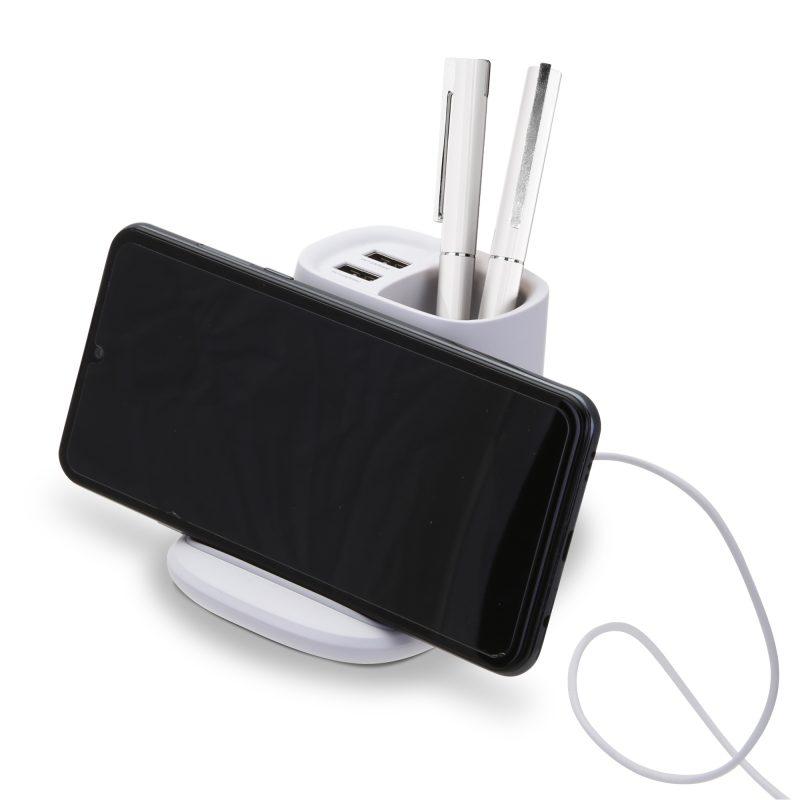 HF-12 Desktop Charging Organizer with Phone