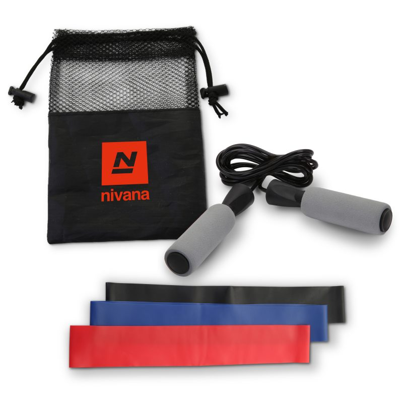 HR-92 Jump Rope & Resistance Band Exercise Kit GREY